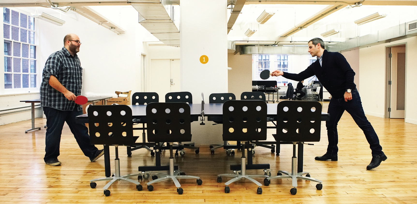 Creative space rethink toronto marketing magazine - How much space for a ping pong table ...