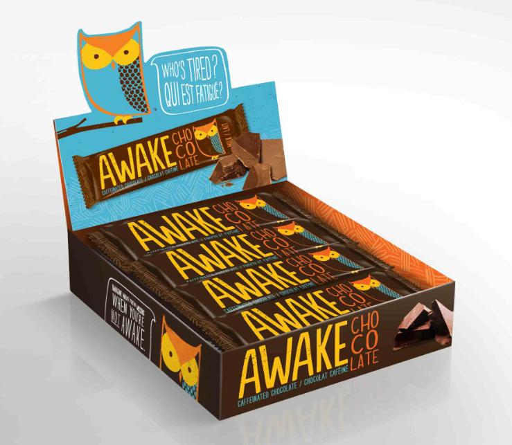 caffeine meets chocolate in new awake bar  marketing magazine