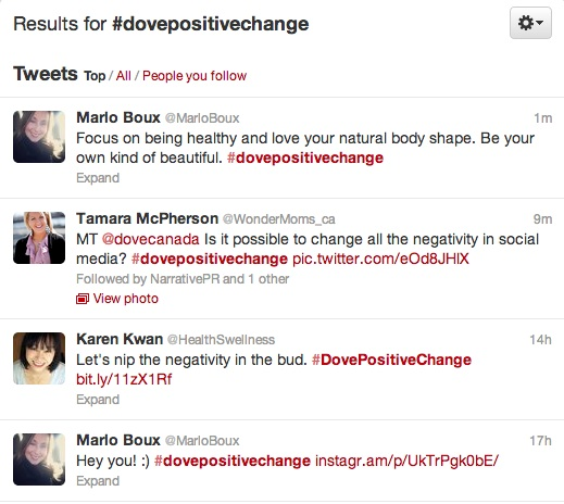 99152f15a2b2d Dove hits Twitter to affect  dovepositivechange