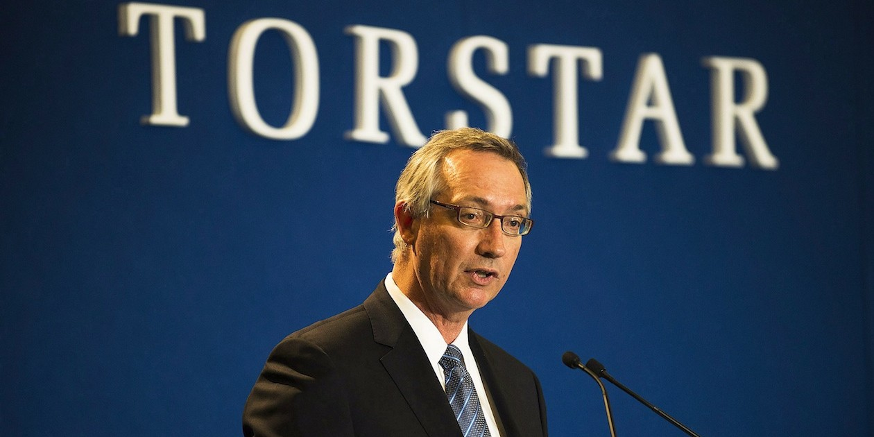 President and CEO of Torstar David Holland (CP, 2014)