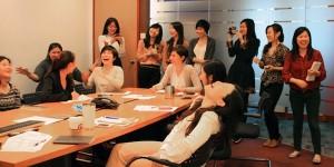 A GWEN networking event at Edelman Hong Kong (courtesy Edelman.com)
