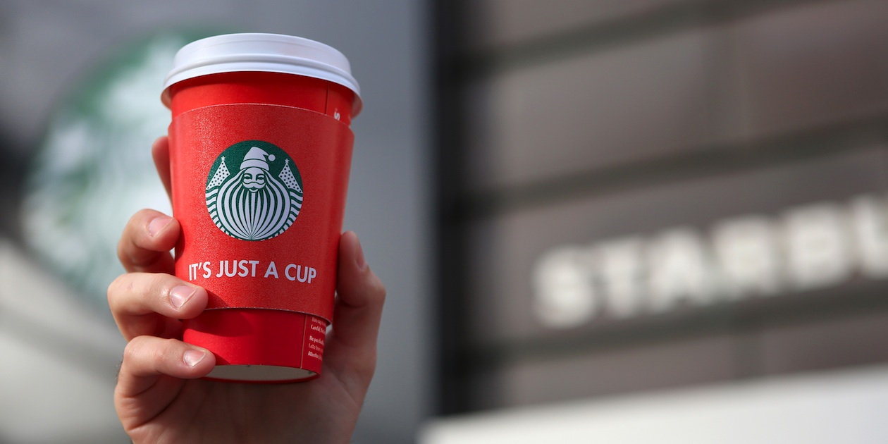 Extreme Group weighs in on Starbucks' red cups