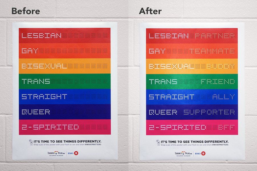 Look At This: PFLAG's flash-activated poster   Marketing