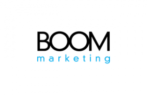 Boom Marketing's new logo was designed in-house