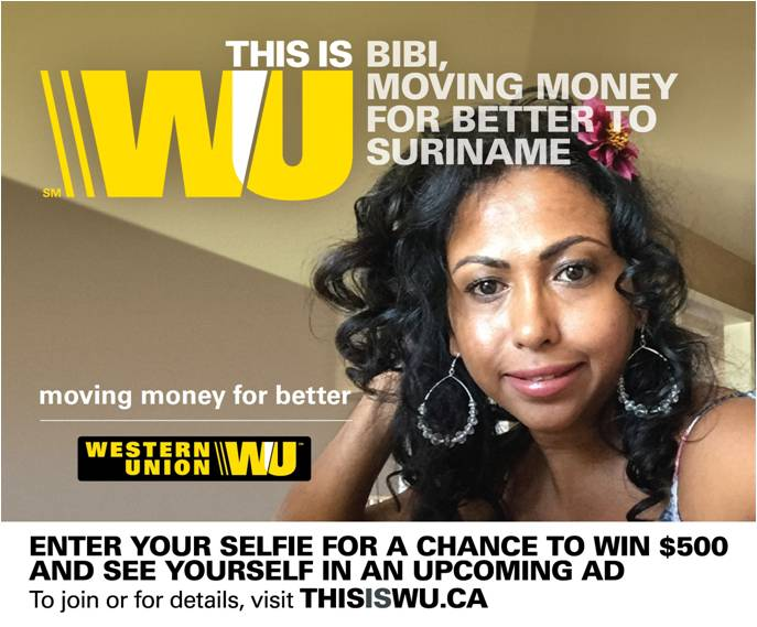 western union finds new faces for the brand marketing magazine. Black Bedroom Furniture Sets. Home Design Ideas