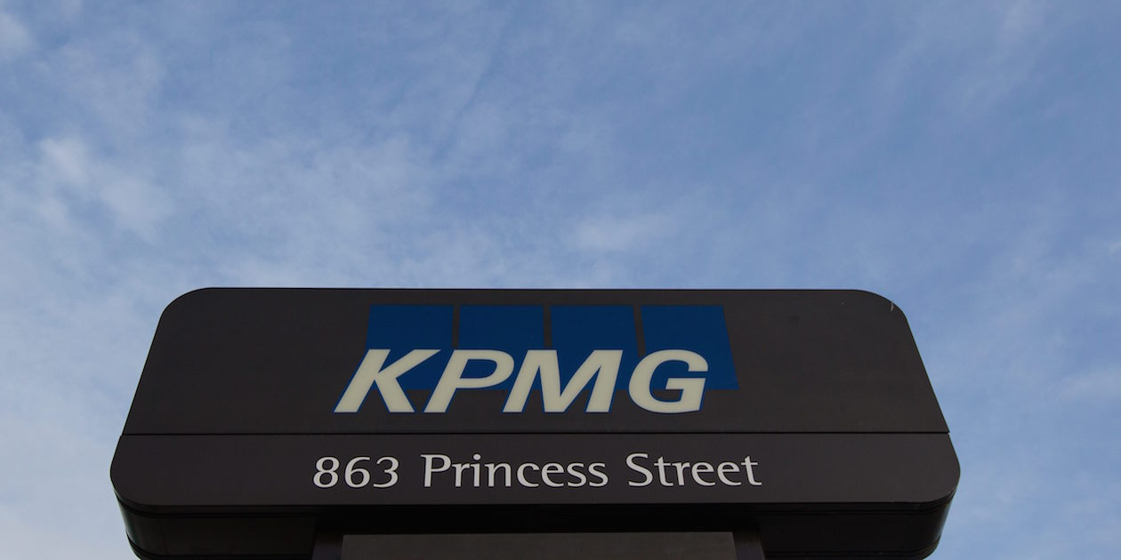 KPMG accounting firm's offices in Kingston, Ont., on March 8, 2016. THE CANADIAN PRESS IMAGES/Lars Hagberg