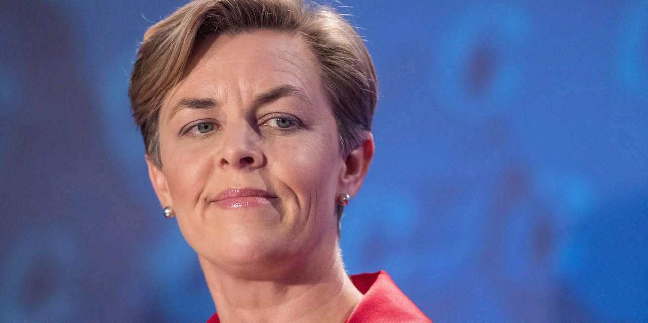 Conservative leadership candidate Kellie Leitch speaks during the Conservative leadership debate in Saskatoon, Wednesday, November 9, 2016. Conservative leadership hopeful Leitch is proposing to scrap the CBC if she manages to reach the Prime Minister's Office. THE CANADIAN PRESS/Liam Richards